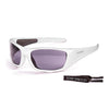OCEAN BERMUDA Polarized Sunglasses Kiteboarding Surf Water Sports (Frame Shiny White, Lens Smoke)