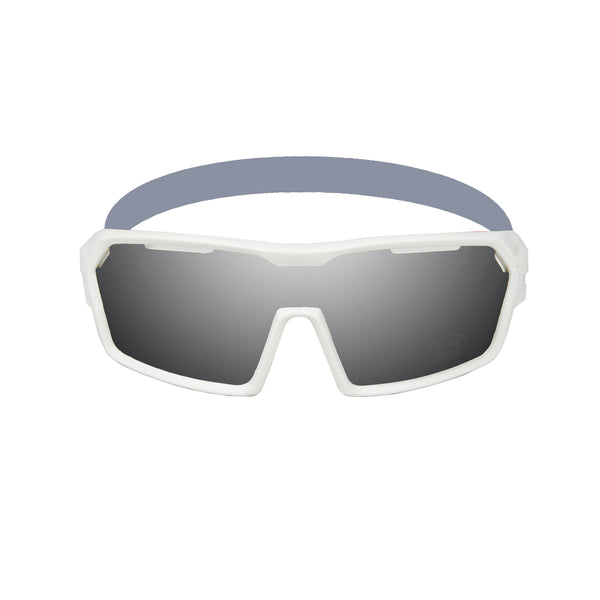 Ocean sunglasses model chameleon 3700.2X with matte white frame and smoke lens polarized eyewear for water sports