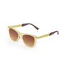OCEAN Sunglasses BOJpro model FLORENCIA 24.13 Frame Transparent Yellow & Lens Transparent Gradient Brown
