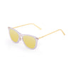 OCEAN Sunglasses BOJpro model GENOVA 23.23 Frame Transparent White & Lens Gold Mirror