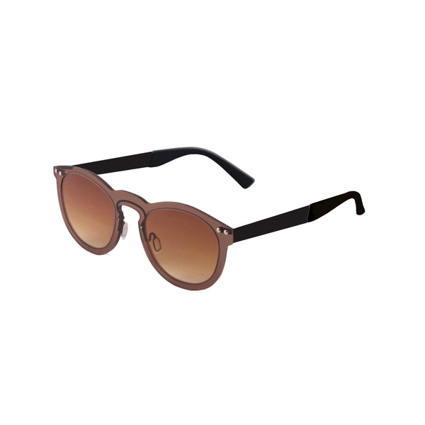 OCEAN Sunglasses BOJpro model IBIZA 21.14 Frame Transparent Brown & Lens Transparent Gradient Brown