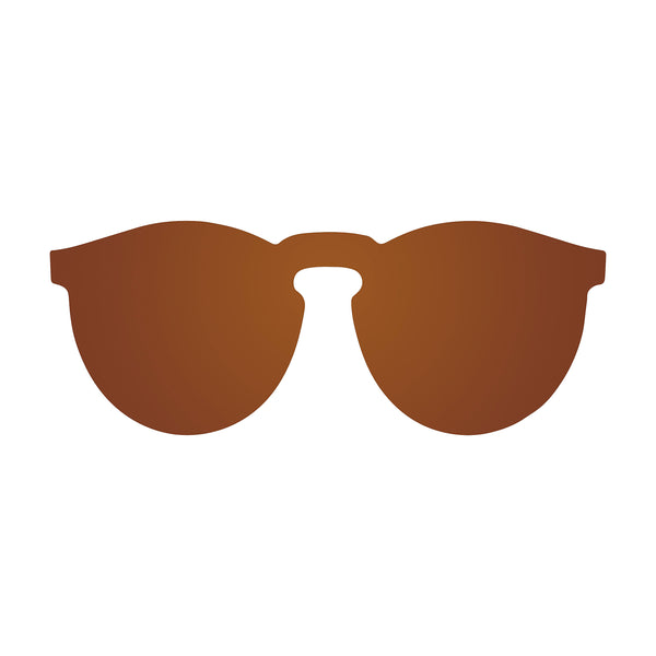 OCEAN Sunglasses BOJpro model IBIZA 21.3 Frame Space Brown & Lens Space Brown