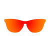 OCEAN Sunglasses BOJpro model LA MISSION 25.6N Frame Space Red & Lens Space Red