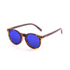 OCEAN Sunglasses BOJpro model LIZARD 72001.2 Frame Dark Brown & Lens Blue