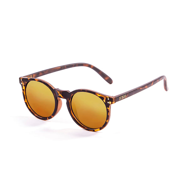 OCEAN Sunglasses BOJpro model LIZARD 72002.2 Frame Nickel Brown & Lens Red