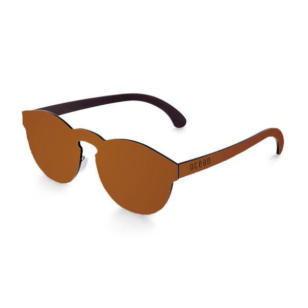 OCEAN Sunglasses BOJpro model LONG BEACH 22.3N Frame Space Brown & Lens Space Brown