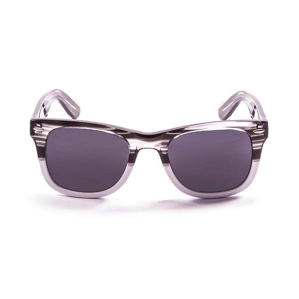 OCEAN Sunglasses BOJpro model LOWERS 59000.93 Frame Demy Black & White Transparent & Lens Smoke