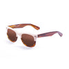 OCEAN Sunglasses BOJpro model LOWERS 59000.9 Frame Light Brown & White Up & Lens Brown