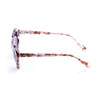 OCEAN Sunglasses BOJpro model MAVERICKS 10000.7 Frame Transparent Flowers & Lens Smoke