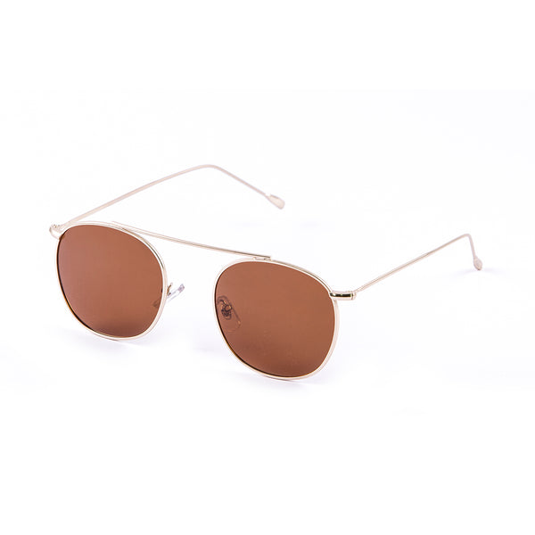 OCEAN Sunglasses BOJpro model MEMPHIS 10314.6 Frame Gold Metal & Lens Brown