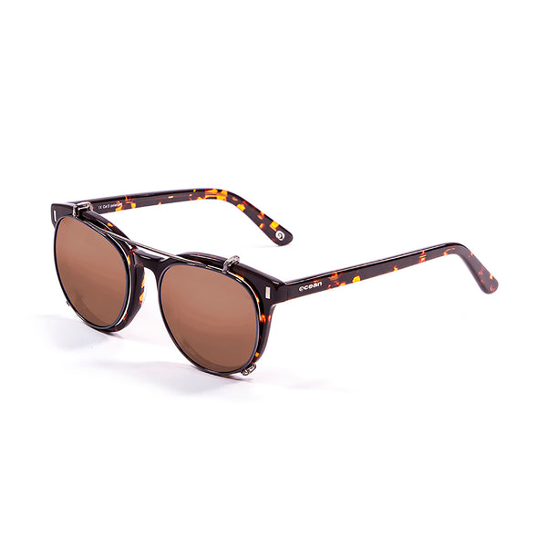OCEAN Sunglasses BOJpro model MR FRANKLIN 71000.3 Frame Demy Brown Dark & Lens Brown