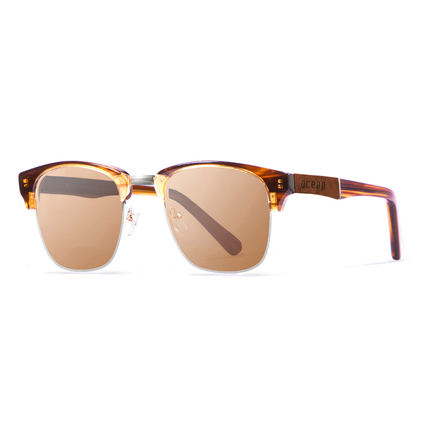 OCEAN Sunglasses BOJpro model NIZA 13100.2 Frame Brown & Lens Smoke