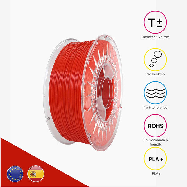 EOLAS PRINTS Premium PLA+ 3D Printer Filament, 1.75 mm, Dimensional Accuracy +/- 0.03 mm, 1 kg (2.2 lb) ABS Spool with Resealable Bag - BOJpro.com
