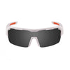 Ocean sunglasses model race 3800.2X with matte white frame and smoke lens polarized eyewear for water sports