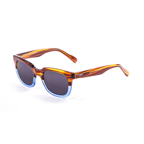 OCEAN Sunglasses BOJpro model SAN CLEMENTE 61000.2 Frame Nickel Brown & Lens Smoke