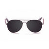 OCEAN Sunglasses BOJpro model SAN REMO WOOD 18110.15 Frame Black & Lens Smoke