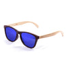 OCEAN Sunglasses BOJpro model SEA WOOD 57001.2 Frame Nickel Brown & Lens Blue