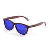 OCEAN Sunglasses BOJpro model SEA WOOD 57011.2 Frame Olive Brown & Lens Blue