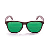 OCEAN Sunglasses BOJpro model SEA WOOD 57012.2 Frame Brown Opal & Lens Green
