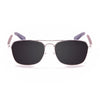 OCEAN Sunglasses BOJpro model SORRENTO WOOD 18220.1 Frame White & Lens Smoke