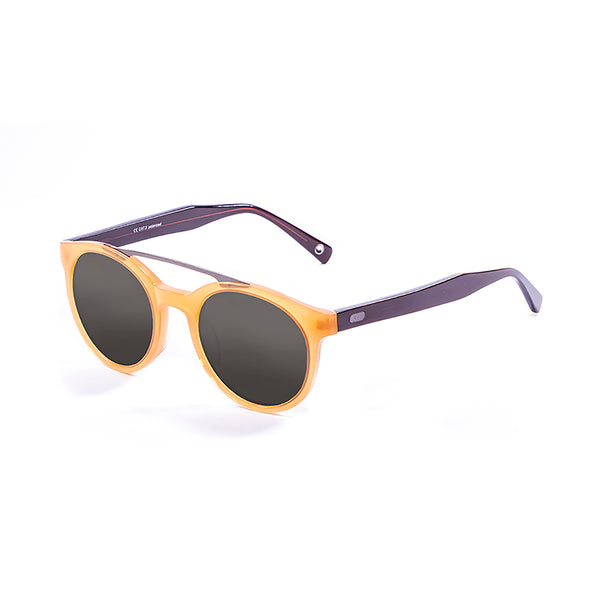 OCEAN Sunglasses BOJpro model TIBURON 10200.2 Frame Coffee & Lens Smoke