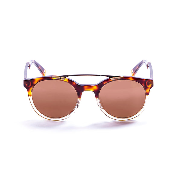 OCEAN Sunglasses BOJpro model TIBURON 10200.7 Frame Earth Brown & Lens Gold
