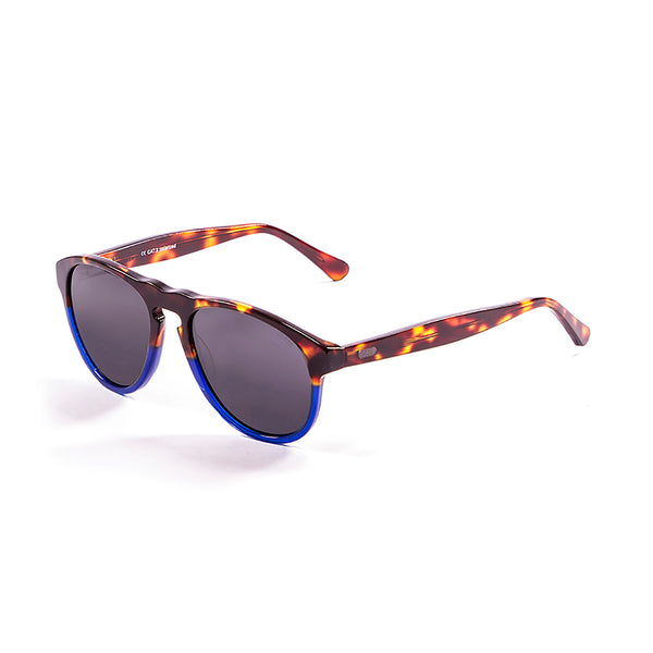 OCEAN Sunglasses BOJpro model WASHINGTON 5000.98 Frame Demy Brown & Blue Transparent & Lens Smoke