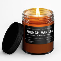 french vanilla all natural candle