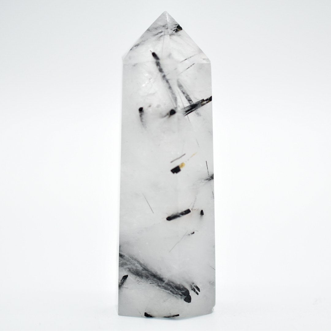 "3"" Tourmalinated Quartz Hexagon Points"