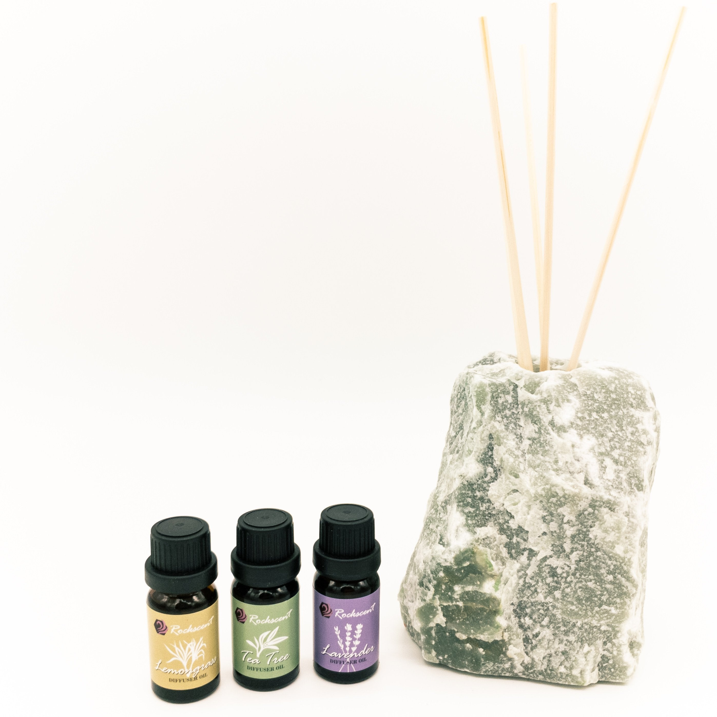 Green Aventurine Diffuser with Natural Oils Set
