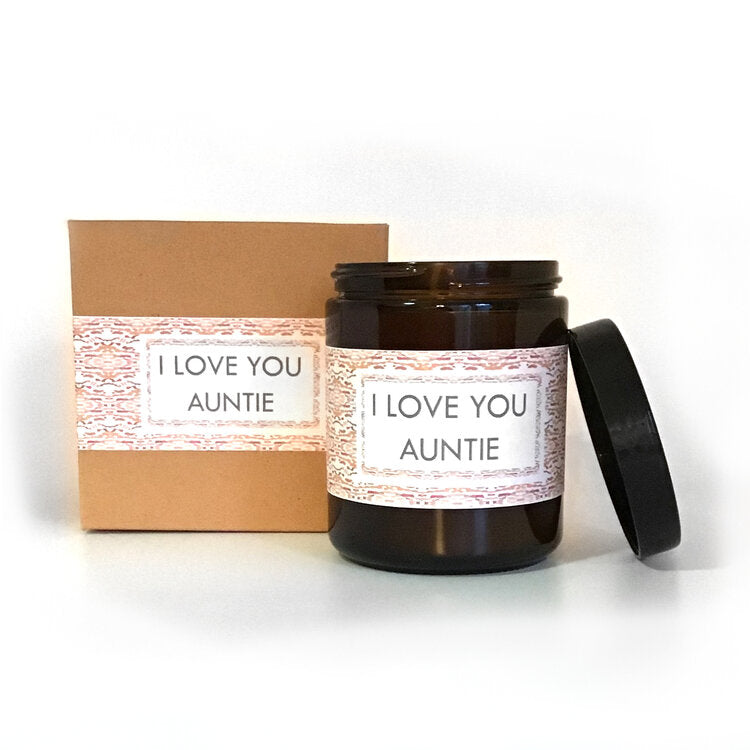 I Love You Auntie Eucalyptus Scented Soy Wax Candle