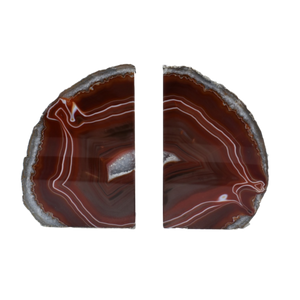 Agate Bookend Silver Electroplated Premium Quality