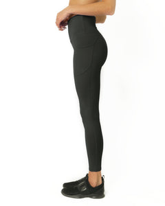 High Waisted Yoga Leggings - Slate Grey