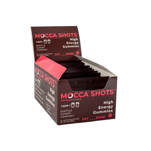 Mocca Shots Chocolate Raspberry Caffeine Gummy 12-pack 12x2 shots
