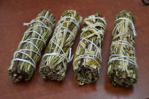 4 Pcs Yerba Santa Sage Smudge Bundle 4""
