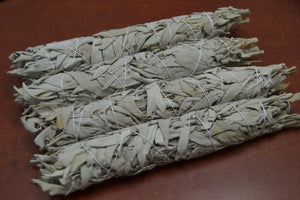 4 Pcs White California Sage Bundle Stick 9""