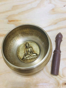 Yoga Singing Bowl for  Peace Sound Therapy Meditation  Copper-Big 8.5""