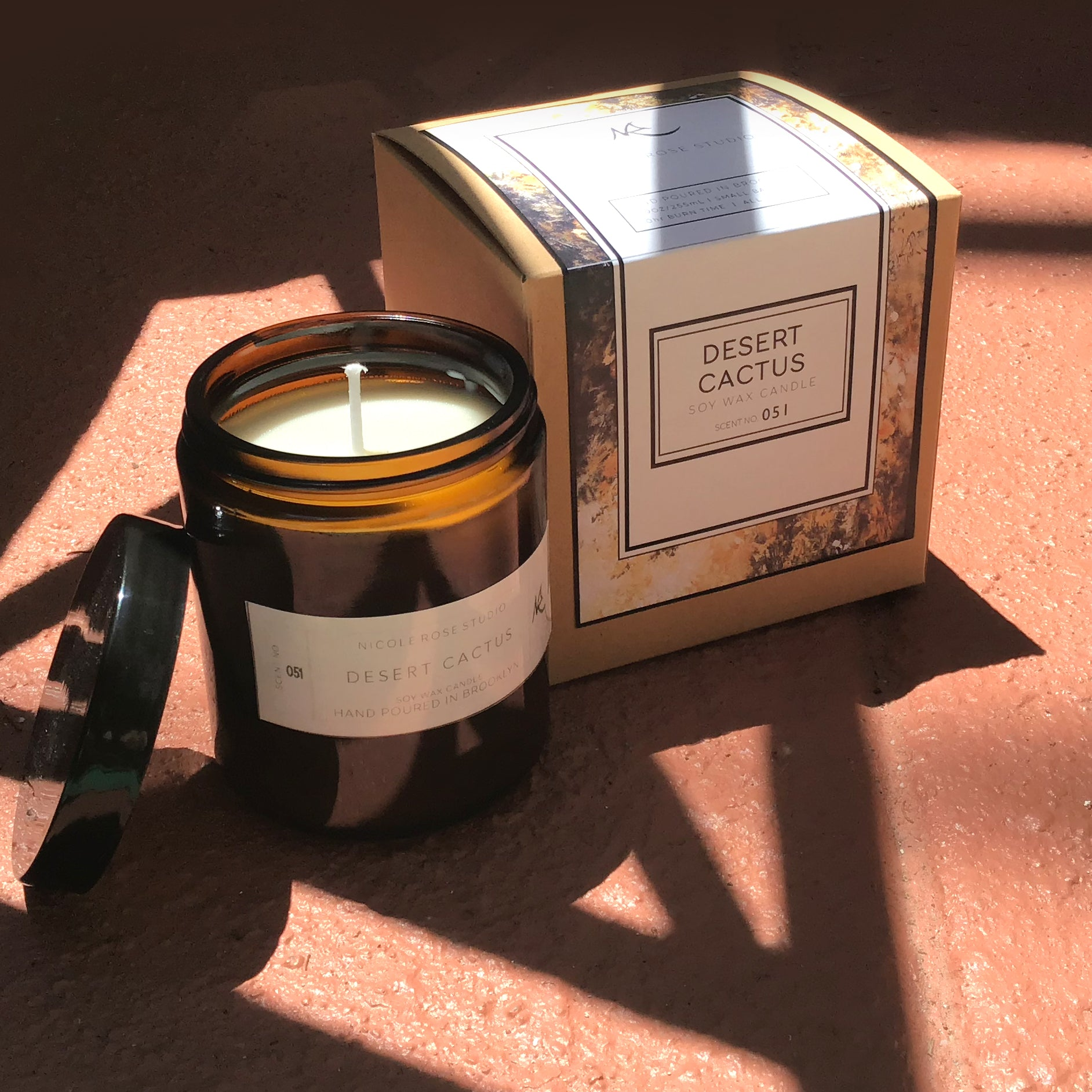 Desert Cactus Scented Soy Wax Candle