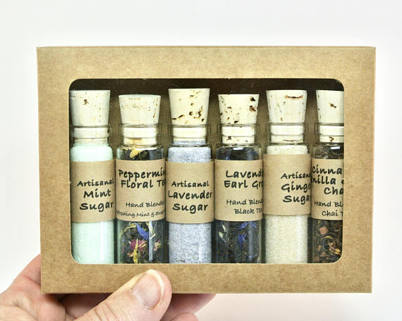 Tea & Sugar Sampler Gift Set, 6 Mini Bottles