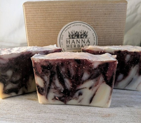 Patchouli, Black Pepper and Lavender Essential Oil Soap