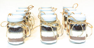Pumpkin Hot Chocolate Mix in 4 oz Mason Jar Mug