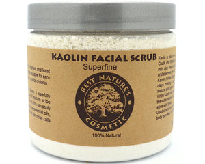 Kaolin Facial Scrub. Mask for sensitive skin.