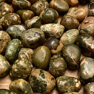 Rhyolite Rainforest Jasper TUMBLED