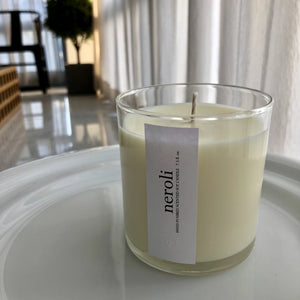 neroli scented luxury soy candle