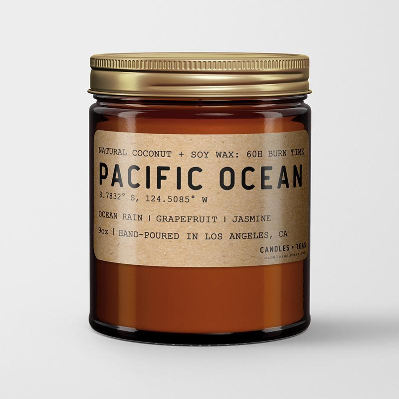 Pacific Ocean: California Scented Candle  (Ocean Rain, Grapefruit,