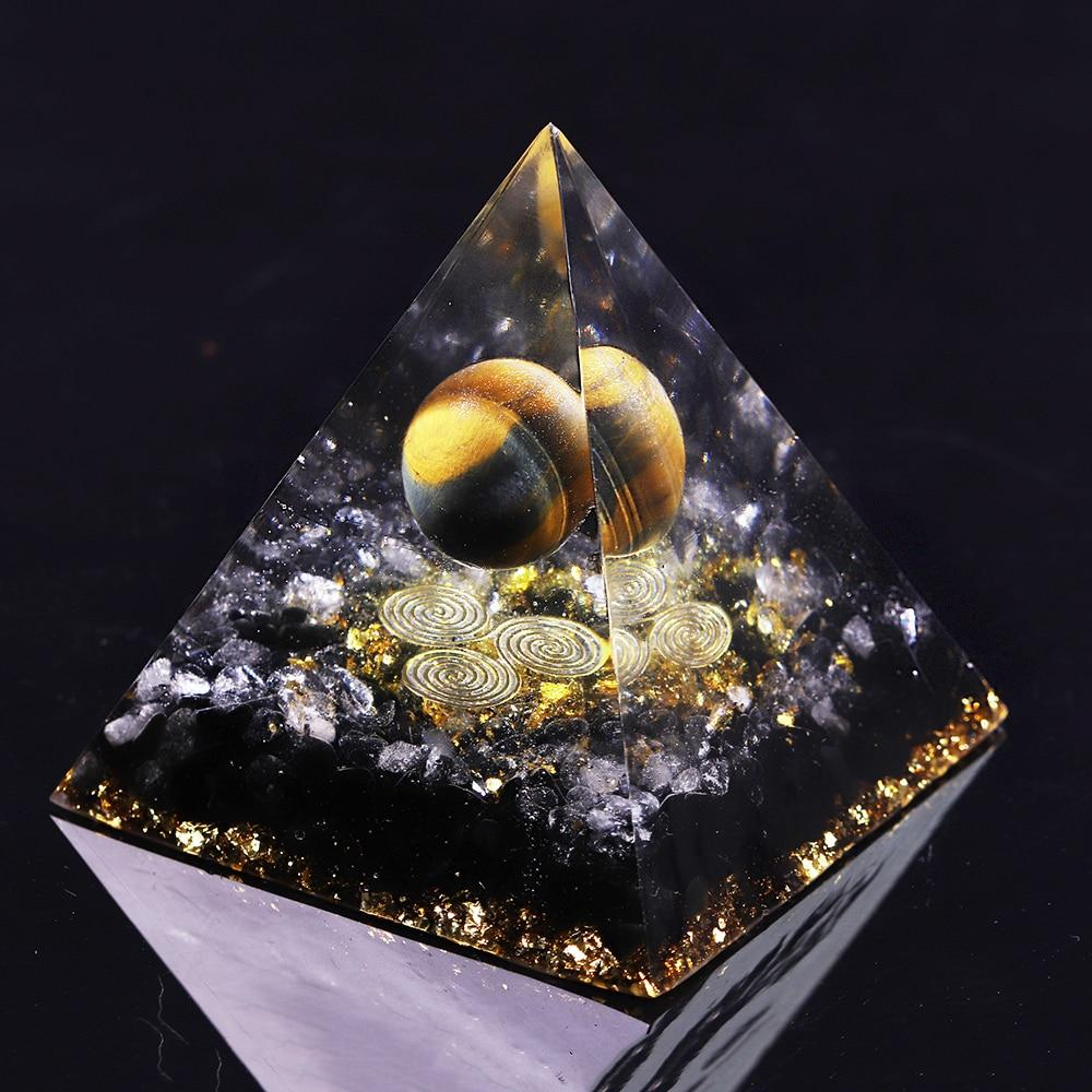 Orgone Energy Converter Orgonite Pyramid Obsidian Soothe The Soul