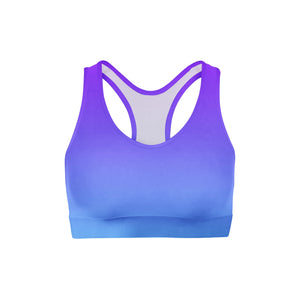 Purple Blue Ombre Sports Bra