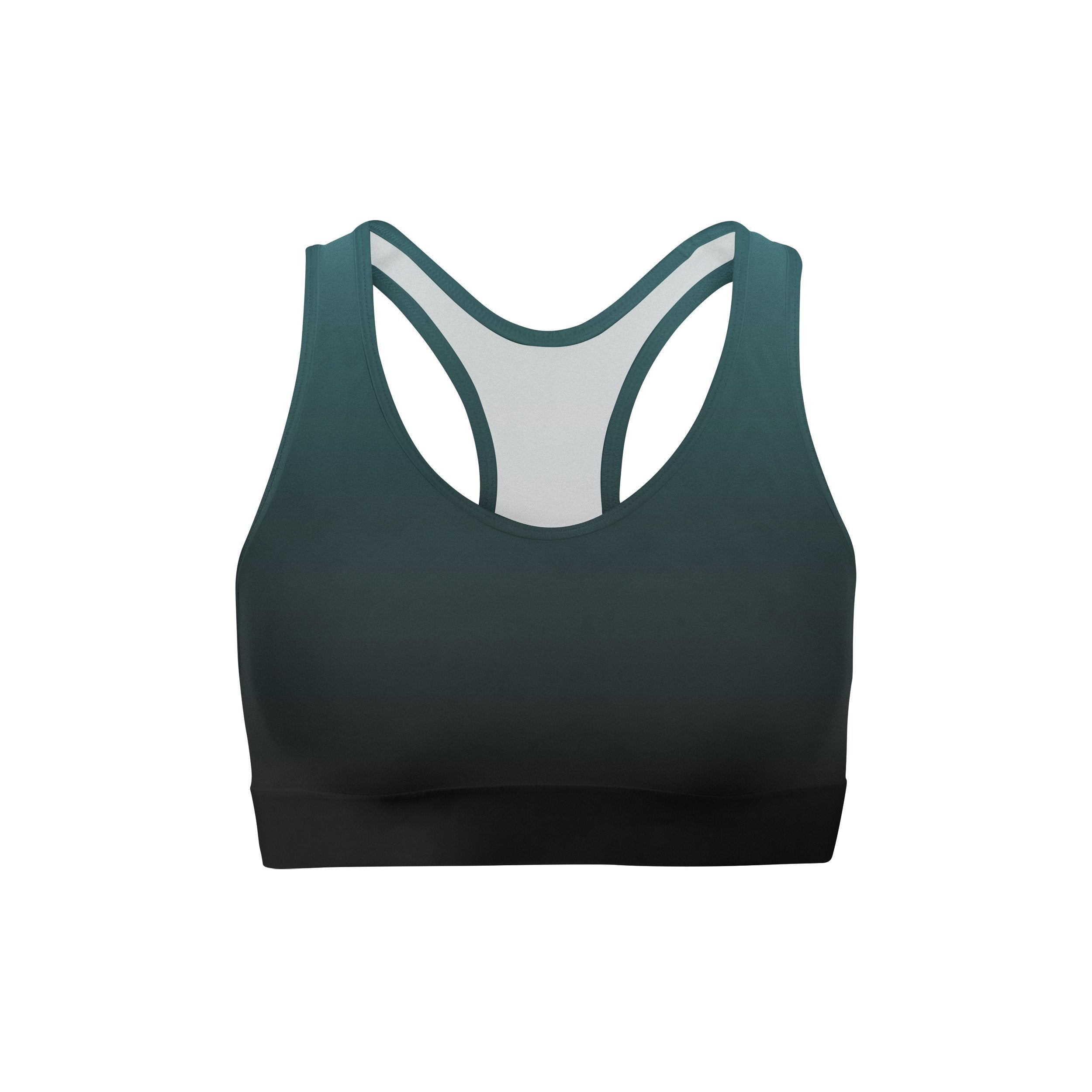 Blue Black Ombre Sports Bra