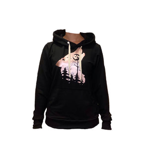 Bamboo Rose Gold Wolf Hoodie