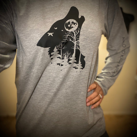 Bamboo Wolf Long Sleeve